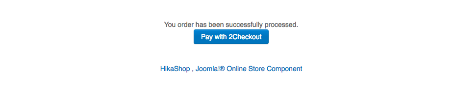 2Checkout Inline for Hikashop - Payment page