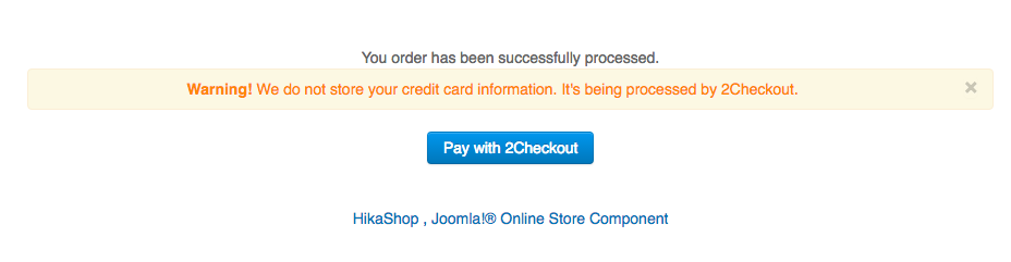 2Checkout Inline for Hikashop - enable 2nd address