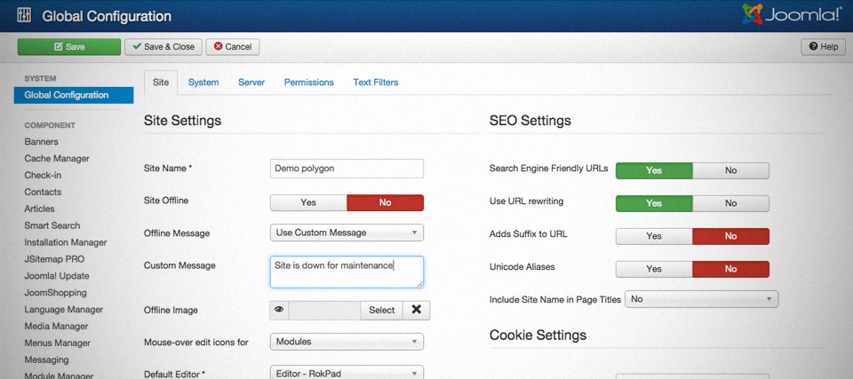 Enabling Joomla SEF URLs