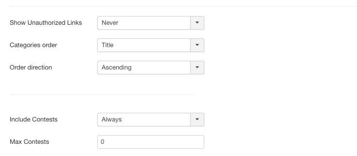 NorrCompetition Sitemap Plugin settings