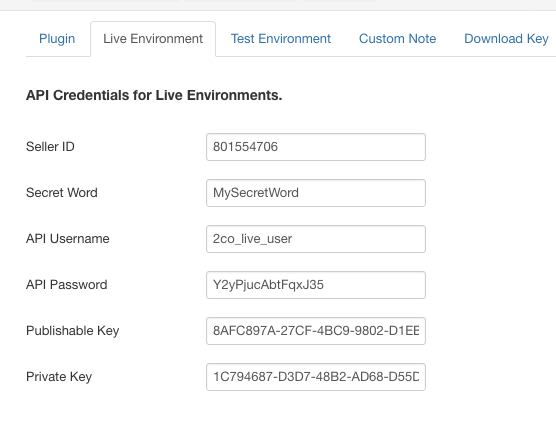 2Checkout Inline for RD-Subscriptions - Live Environment