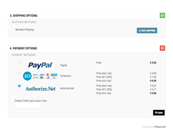 Authorize.Net payment method for Phoca Cart