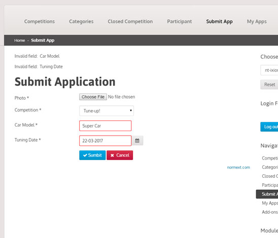 NorrCompetition - voting contest extension for Joomla