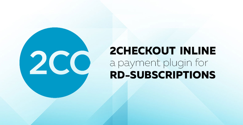 2Checkout Inline for RD Subscriptions 1.0.1: maintenance release