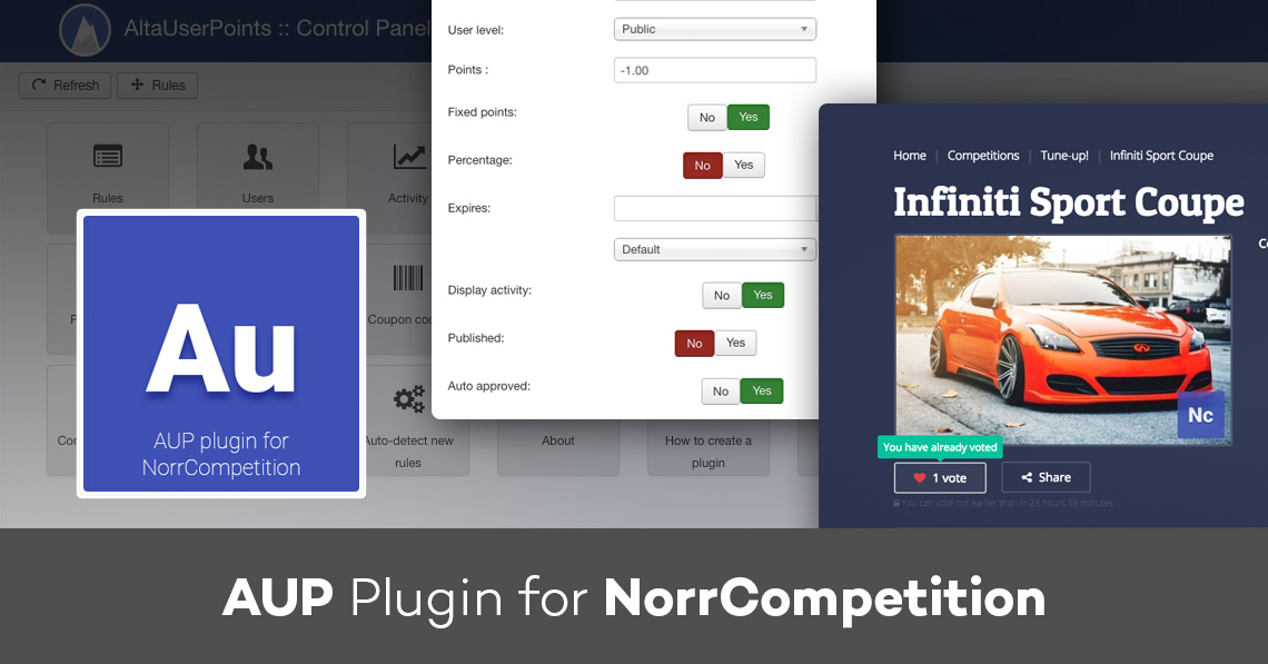 AUP plugin for NorrCompetition 1.1.0: new rules