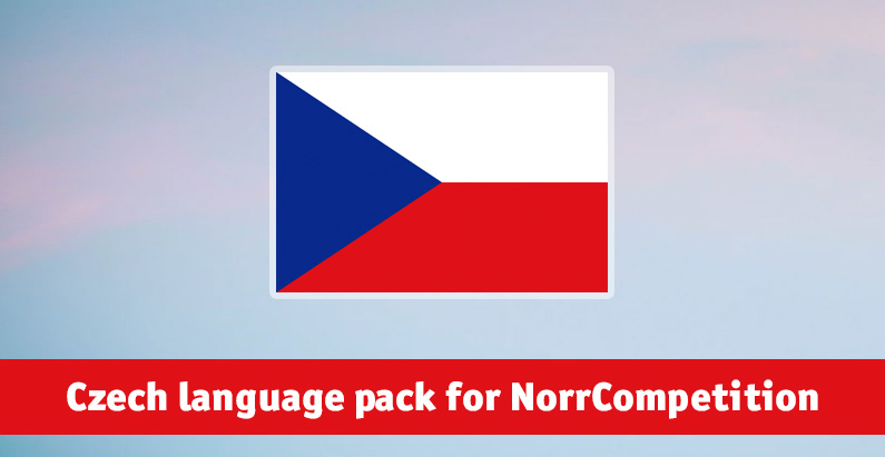Czech language pack for NorrCompetition added