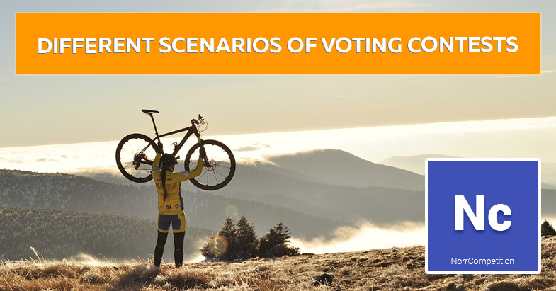 Tutorial: different scenarios of voting contests with NorrCompetition