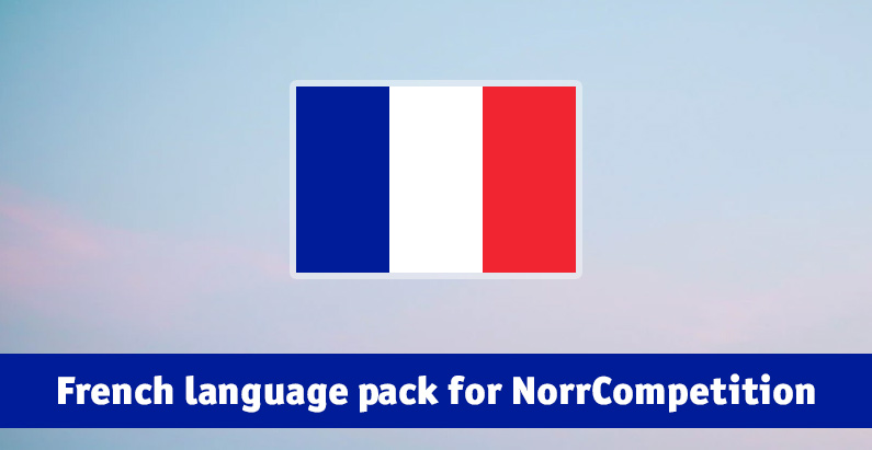 French language pack for NorrCompetition updated