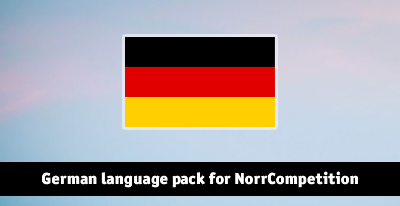 German language pack for NorrCompetition updated