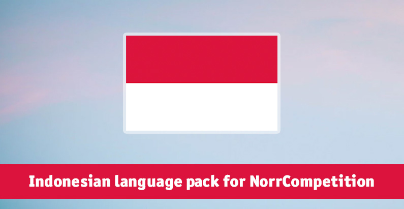 Indonesian language pack for NorrCompetition updated