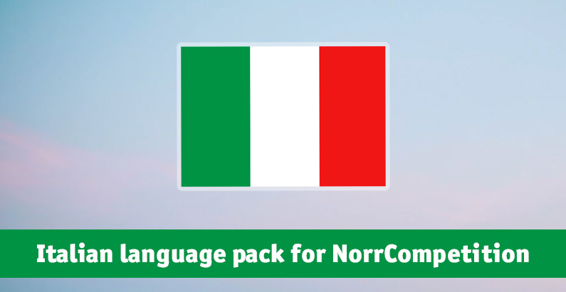 Italian language pack for NorrCompetition added