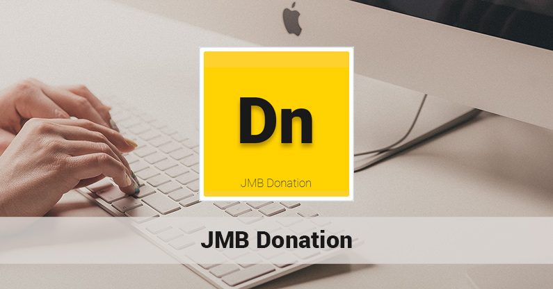 The release of JMB Donation version 1.0.3