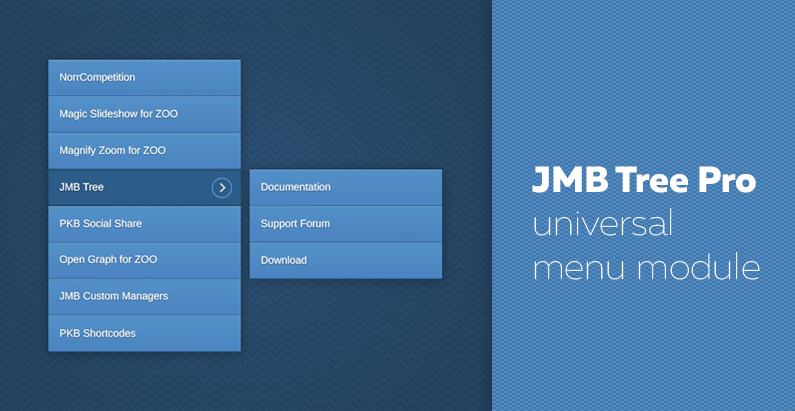 JMB Tree Pro 1.0.1 - new version of universal menu module