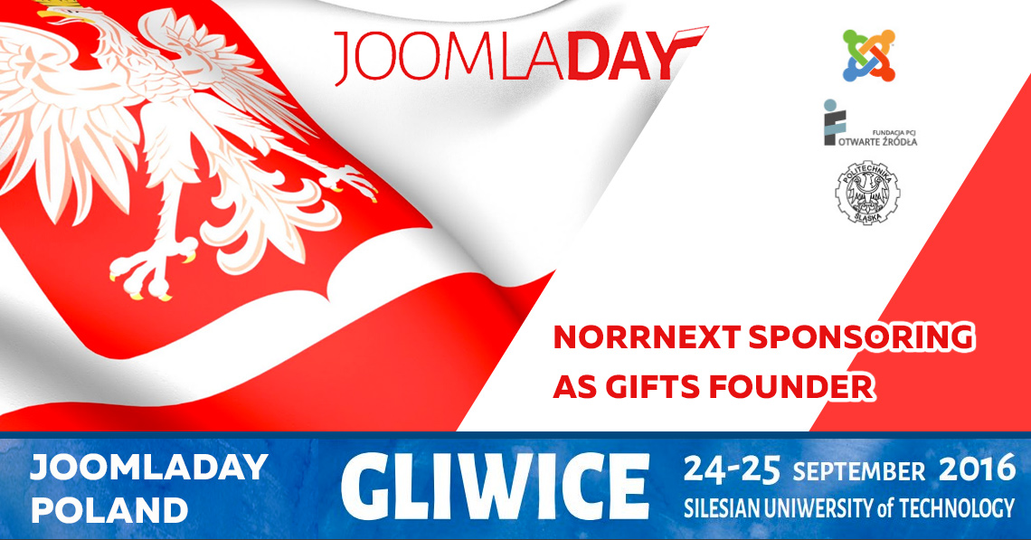 NorrNext is sponsoring JoomlaDay Poland 2016 as Gifts Founder