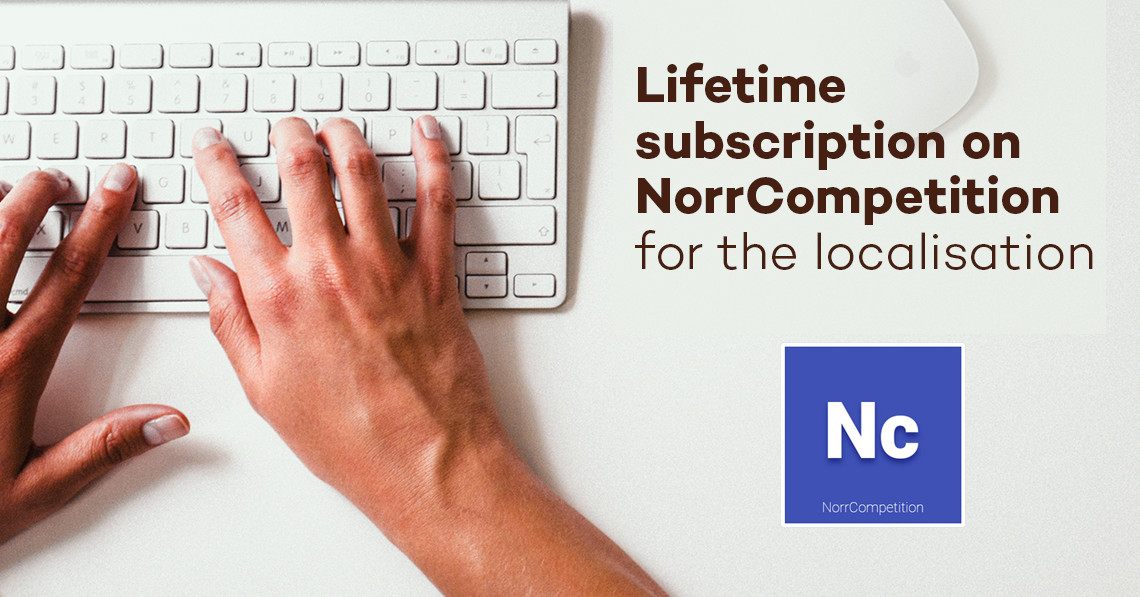 Lifetime subscription on NorrCompetition for the localisation