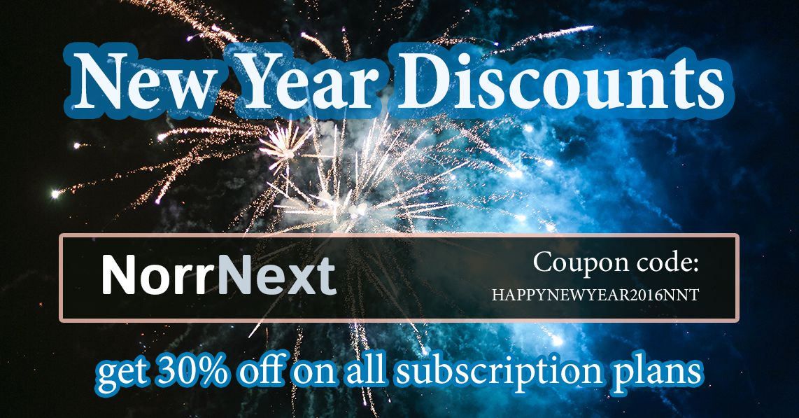 New Year discounts: 30% off on all subscription plans