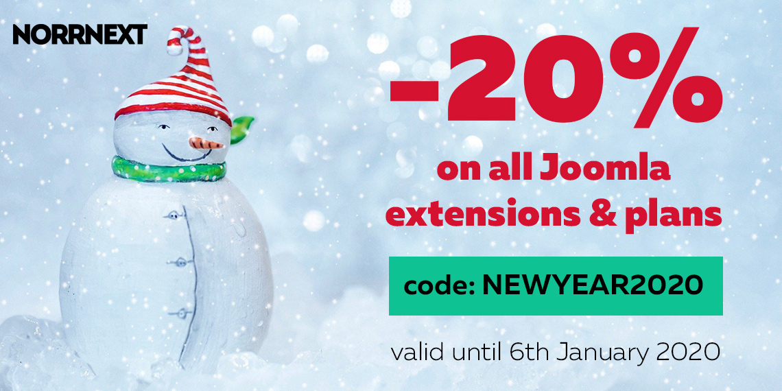 Christmas 2019 & New Year 2020: get 20% OFF on all!