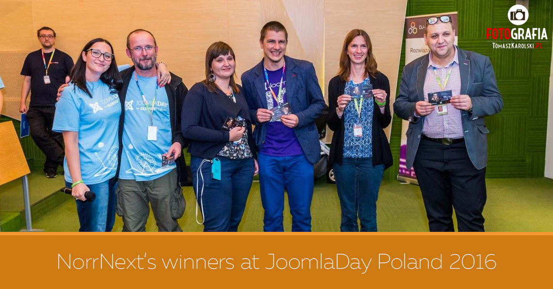 NorrNext's Winners at JoomlaDay Poland 2016