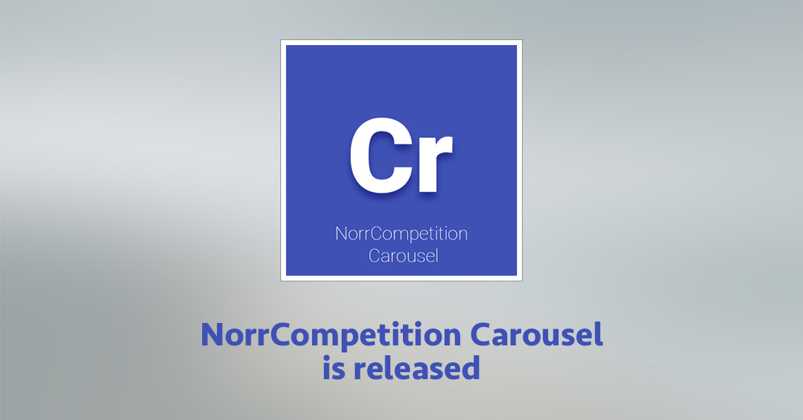 NorrCompetition Carousel module is released