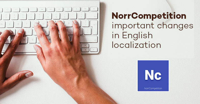 NorrCompetition: important changes in English localization