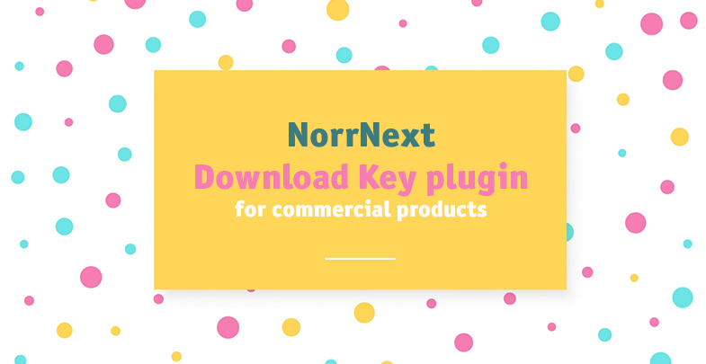 NorrNext Download Key plugin for commercial products