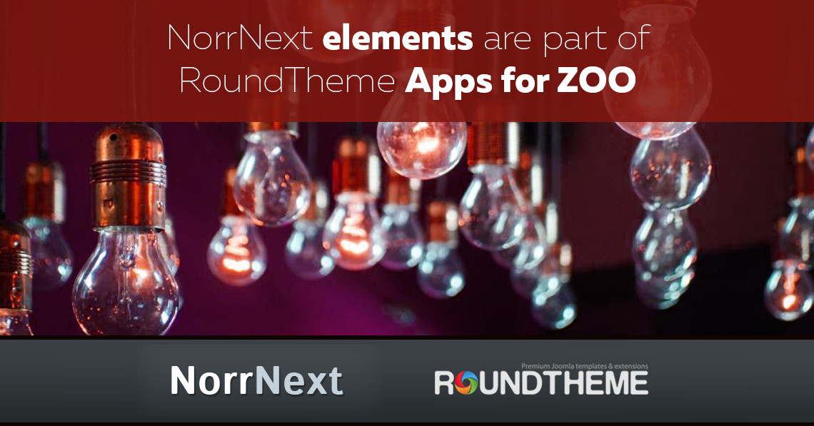 NorrNext elements are part of RoundTheme Apps for ZOO