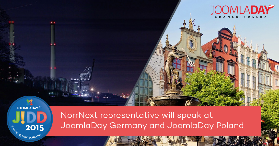 NorrNext representative will speak at JoomlaDay Germany and JoomlaDay Poland