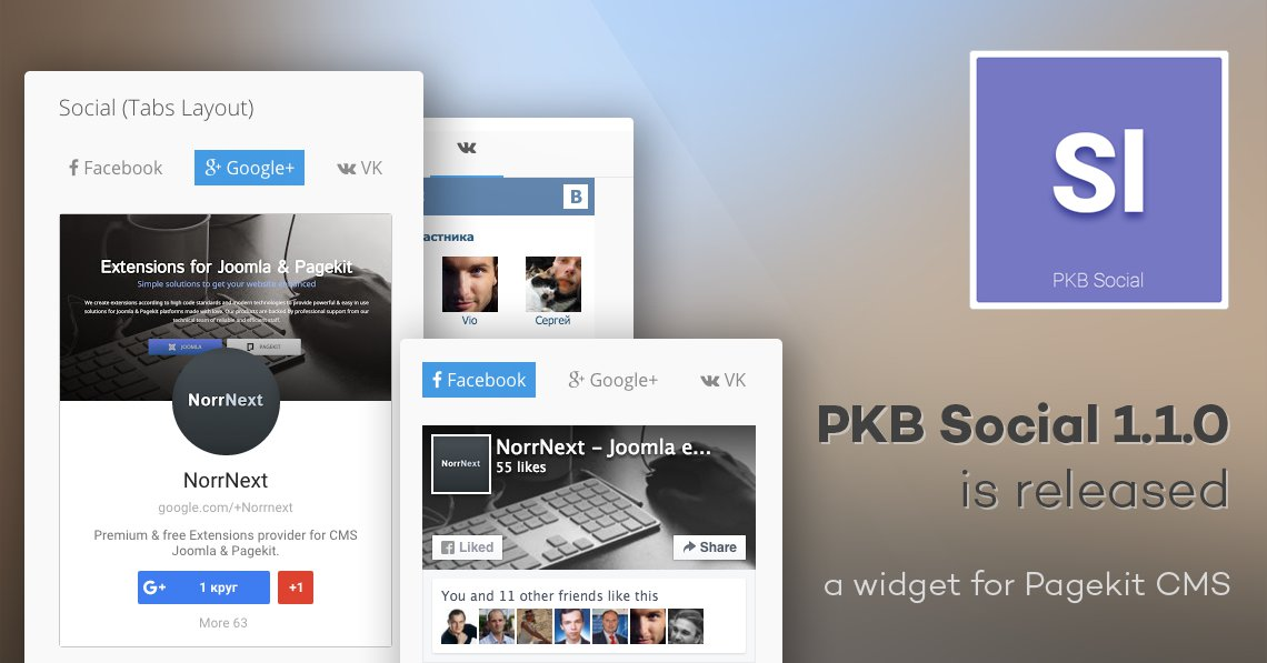 PKB Social 1.1.0 for Pagekit is released