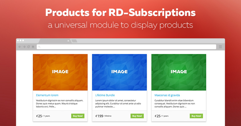 Products for RD-Subscriptions module released