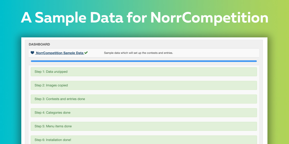 A New Sample Data for NorrCompetition