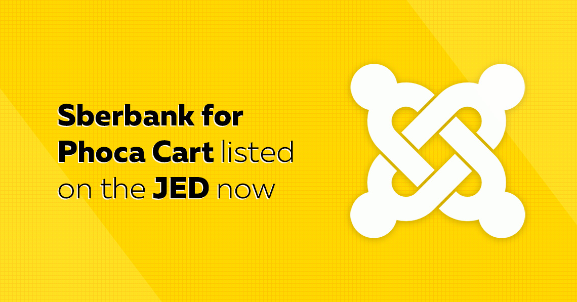 Sberbank for Phoca Cart listed on the JED