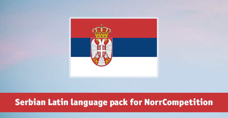 Serbian Latin language pack for NorrCompetition added