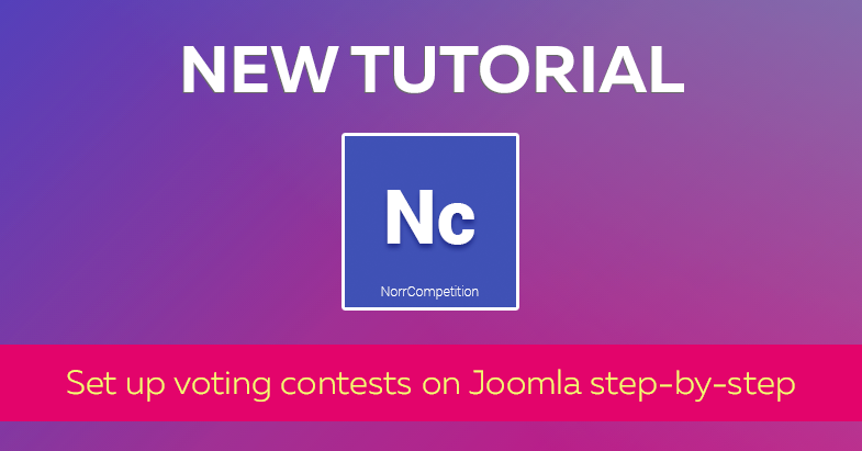 New tutorial: Set up voting contests on Joomla step-by-step
