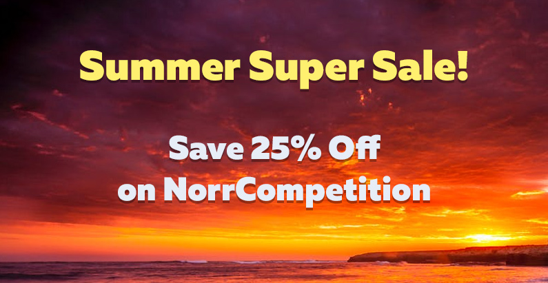 Summer Super Sale! Get 25% Off on NorrCompetition [updated]